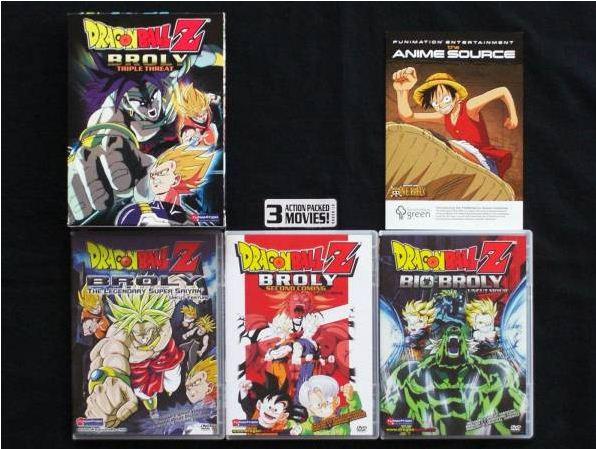 アニメ ドラゴンボールZ ブロリー3部作 DVD,BOX 北米版